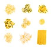 Set av pasta Arkivbilder