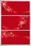 Set av röda bakgrunder Arkivfoton