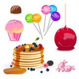 Set av sötsaker Arkivfoton