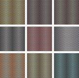 Set av seamless metallbakgrunder vektor illustrationer