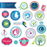 Set av sjukvårdemblem och etiketter Royaltyfri Fotografi