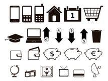 Set av symboler Royaltyfri Foto