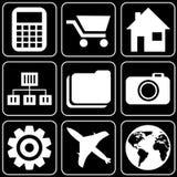 Set av symboler (andra) Arkivbild