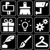 Set av symboler (andra) Arkivfoton