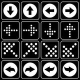 Set av symboler (pilen) Royaltyfria Bilder