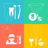 Set av tand- symboler Arkivbild