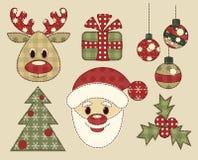 Set av tappningbilder för jul Arkivfoto