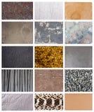 Set av texturer Arkivfoto