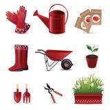Set av trädgårds- hjälpmedel Fotografering för Bildbyråer