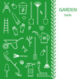 Set av trädgårds- hjälpmedel Royaltyfri Foto