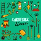 Set av trädgårds- hjälpmedel Royaltyfria Foton