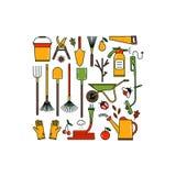 Set av trädgårds- hjälpmedel Royaltyfri Bild