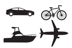 Set av transportsymboler Arkivbilder