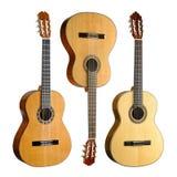 Set av tre klassiska gitarrer Fotografering för Bildbyråer