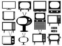 Set av tv:n Royaltyfri Illustrationer