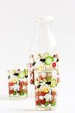 Set av vattenflaskan för gåva. Royaltyfri Foto