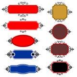 Set av vektorbaner Royaltyfri Bild
