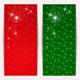 Set av vertikala julbaner Royaltyfria Bilder