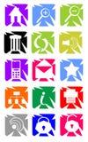 Set av websiteknappar och symboler Royaltyfria Bilder