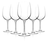 Set av wineexponeringsglas Arkivfoto