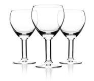 Set av wineexponeringsglas Arkivfoton