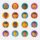 Set of Avatar Flat Design Icons. Vector Stock Photos