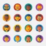 Set of Avatar Flat Design Icons. Vector Stock Photos