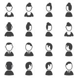 Set of avatar icons. Silhouette Stock Photo