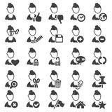 Set of avatar icons. Silhouette Stock Images