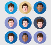 Set of avatar icons Royalty Free Stock Photos