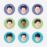 Set of   avatar icons Stock Photography