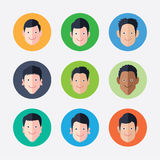 Set of   avatar icons Royalty Free Stock Photography