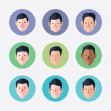 Set of  avatar icons Stock Photos