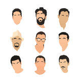 Set of avatar icons Stock Images