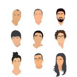 Set of avatar icons Royalty Free Stock Image