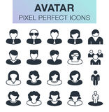 Set of avatar icons. Royalty Free Stock Photos