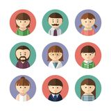 Set of avatar icons. Vector illustration Royalty Free Stock Photo