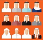 Set Avatar koloru ikony Obrazy Royalty Free