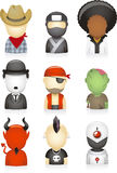 Set avatars Stock Photography