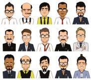Set avatars biznesmen zdjęcia royalty free