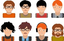 Set of avatars business Royalty Free Stock Image