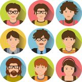 Set of avatars business Stock Photo