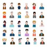 Set avatars flat style men women profession Stock Image