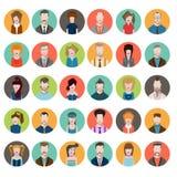 Set avatars flat style men women profession Royalty Free Stock Photos