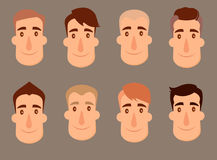 Set of avatars. Male characters. Royalty Free Stock Image