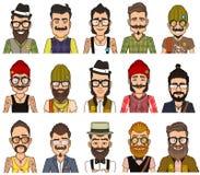 Set avatars modnisie obrazy royalty free