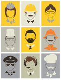 Set avatars -- people of different professions Royalty Free Stock Photography