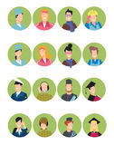 Set of avatars people Royalty Free Stock Photo