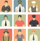 Set of Avatars People Occupations Royalty Free Stock Photography