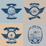 Aviation_labels_set royalty free illustration